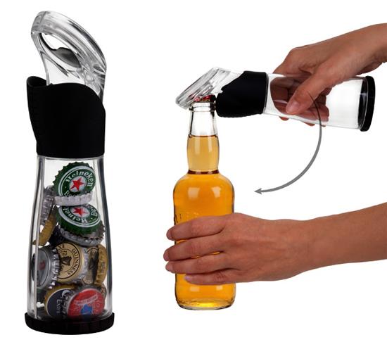 Trudeau Bottle Cap Catcher Opener