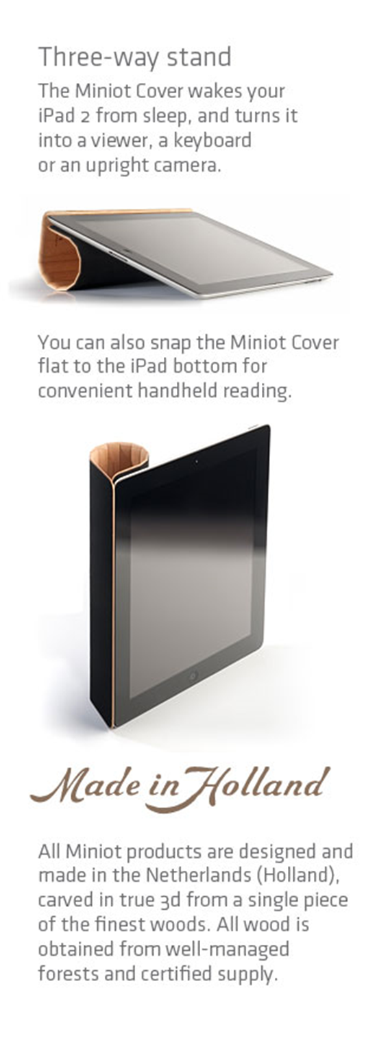iPad 2 Wooden Magnet Cover