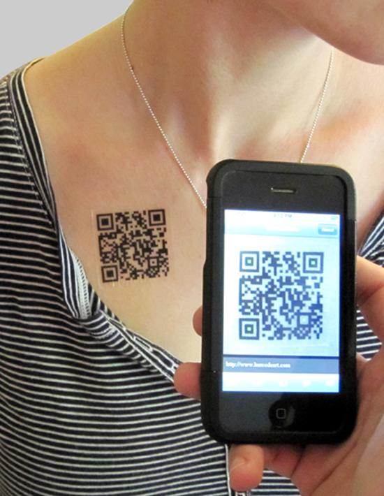 QR Tattoo | GadgetKing.com