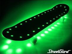 Green StreetGlow Skateboard