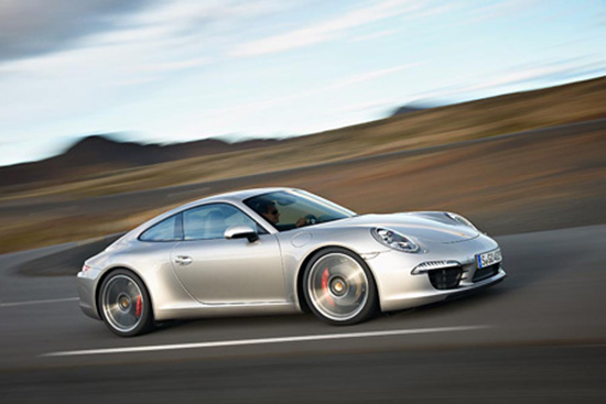 2012 Porsche 911 Carrera Silver Side View