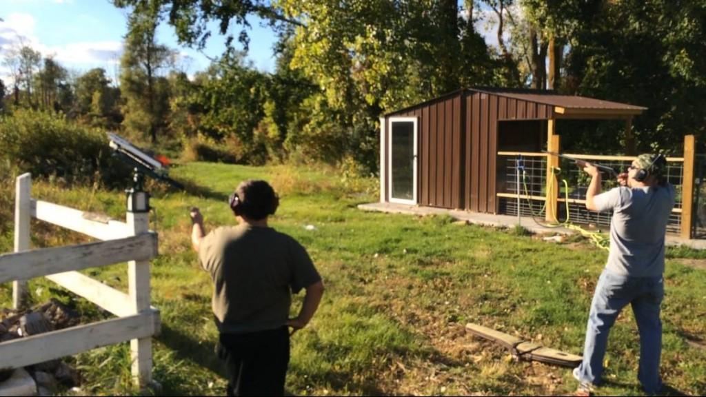 Steve Shooting Clay Pigeons