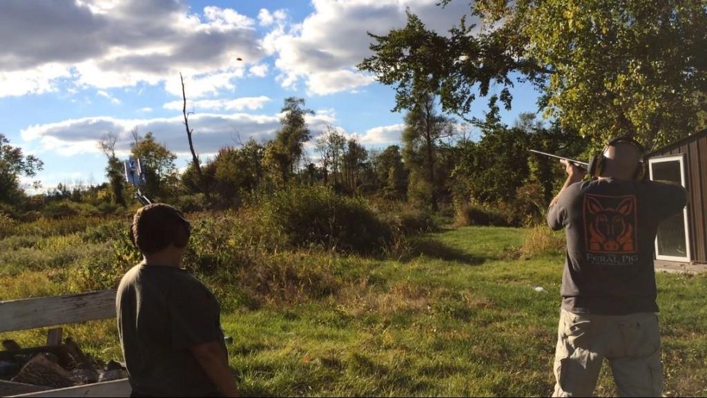 Russ Shooting Clay Pigeons