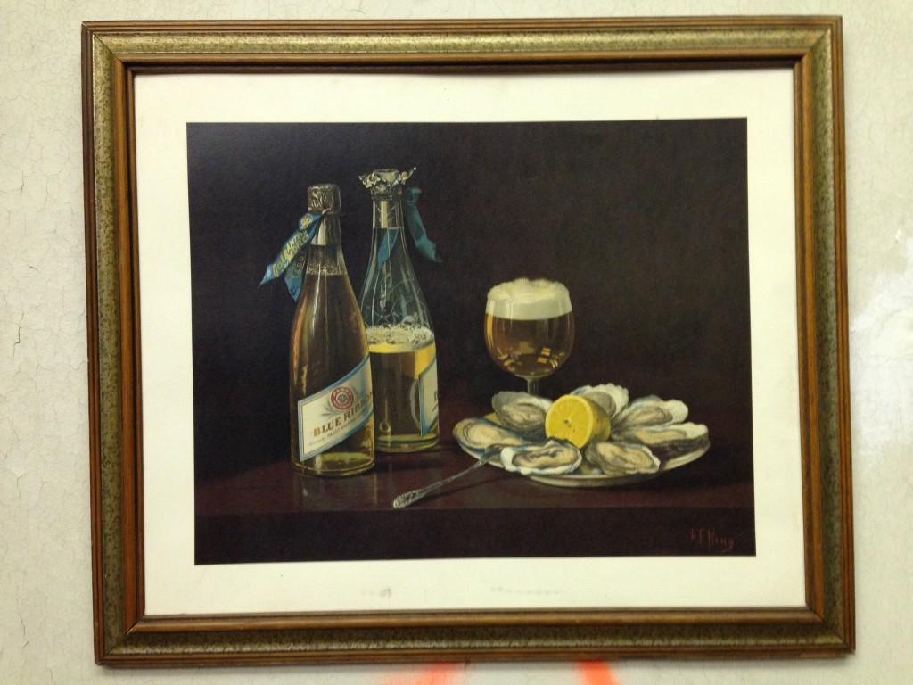 Schlitz Oyster Painting