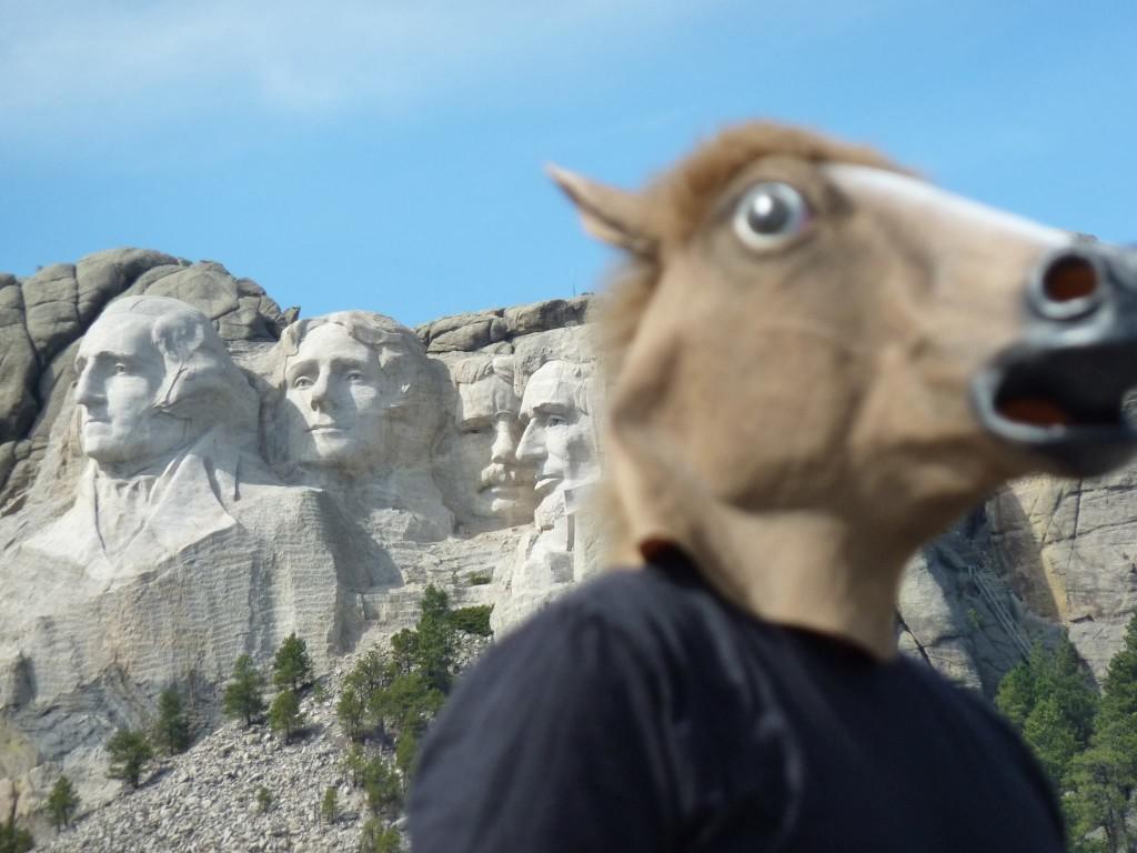Mt Rushmore Horse Head