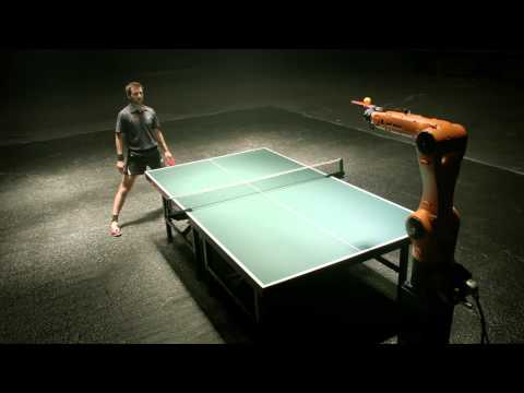 Man vs Robot Tennis Table Match