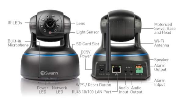 Swann ADS445 SwannEye HD Pan Tilt Wireless IP Network Camera