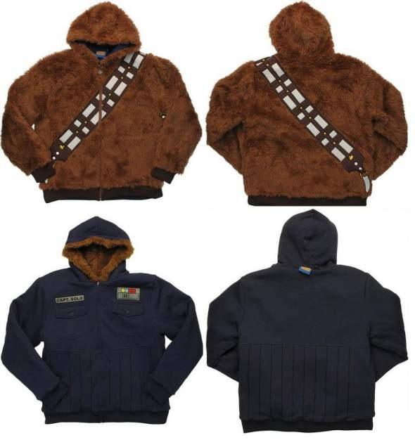 Star Wars Chewbacca Han Solor Reversible Hoodie
