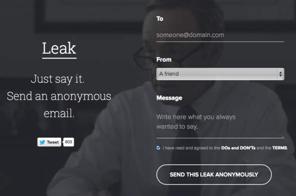 Leak Anonymous Email Service