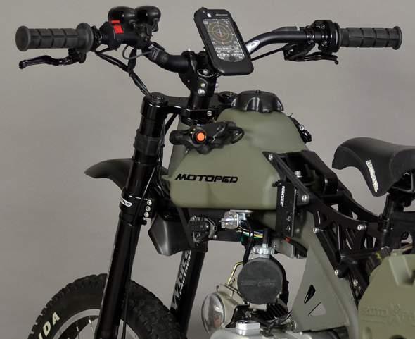 Motoped Survival Bike Tank