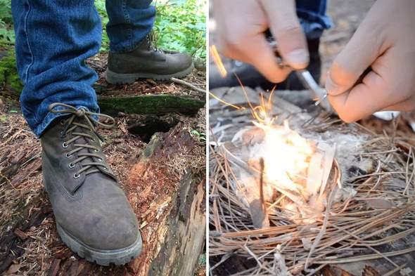 RattlerStrap Flint Survival shoelaces