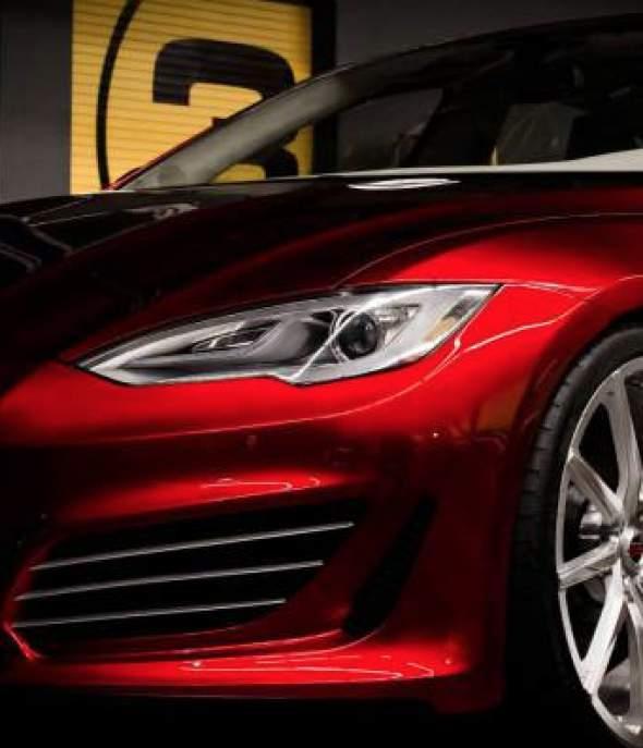 Tesla P85 Saleen Skirt