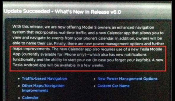 Tesla Model S iPhone Remote Start