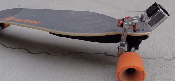 Talon Mount On Boosted Skateboard