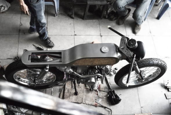 Bandit9 Bishop Motorcycle Build Update 2 top view