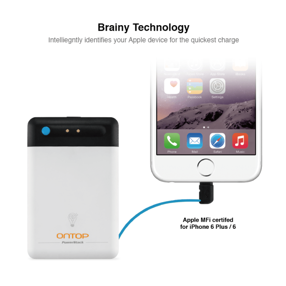 EagleTec ONTOP External Battery with MFI Certified Lightning Connector 3
