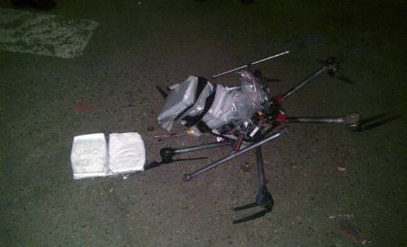 Hexacopter drug mule crash