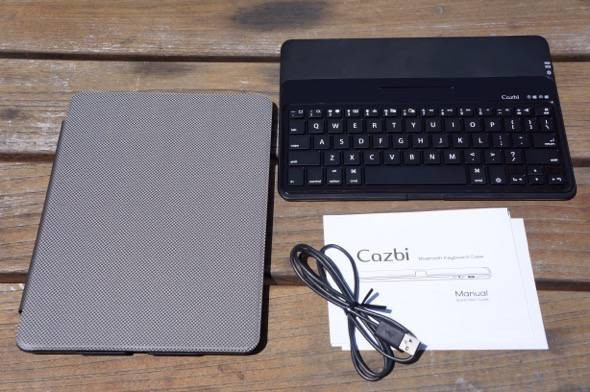 Cazbi iPad Air Bluetooth Keyboard Case Contents