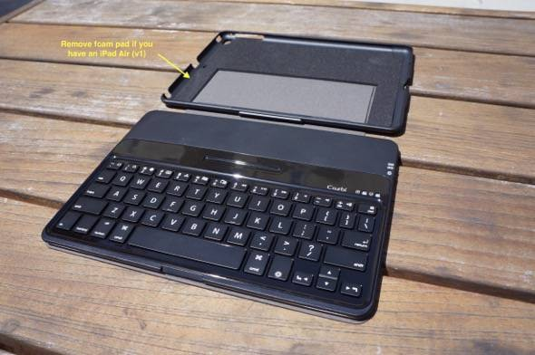 Cazbi iPad Air Bluetooth Keyboard Case Foam