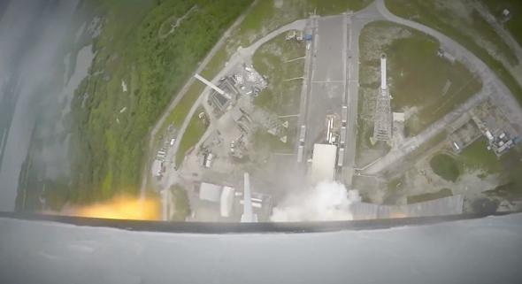 SpaceX Crew Dragon LAS video