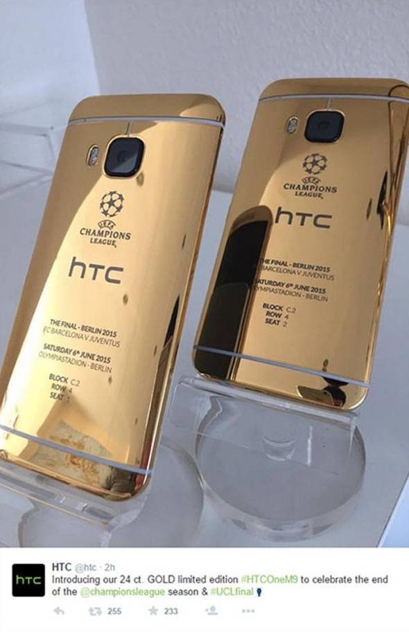 Gold HTC One M9 Phone iPhone Picture