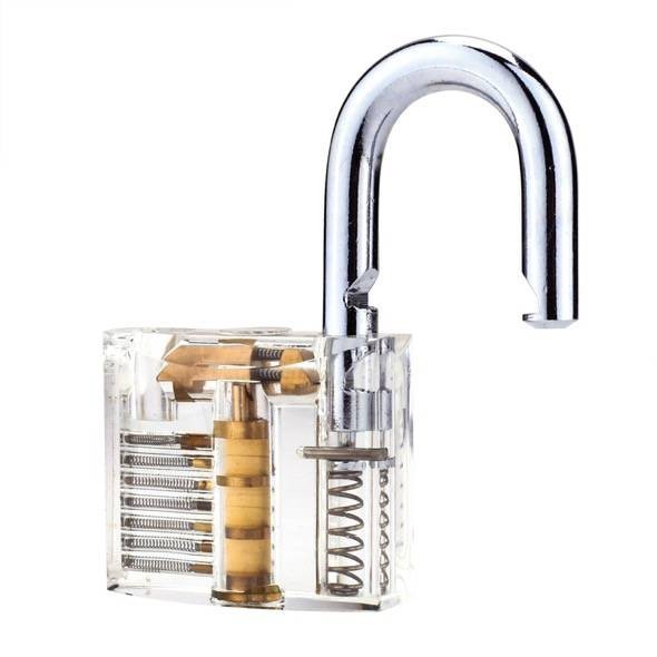 Clear Padlock Picking Trainer