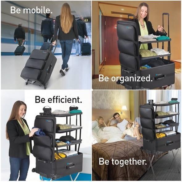Luggage with shelves ShelfPack