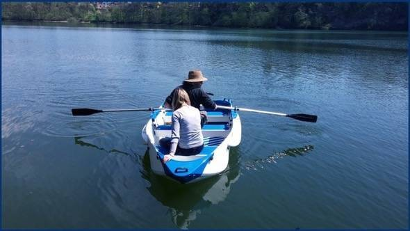 Origo Folding Boat Rowing