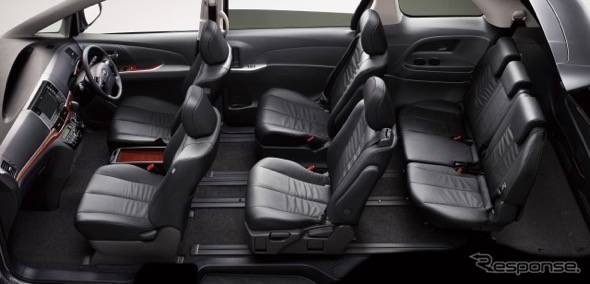 Toyota Estima Hybrid Minivan Interior