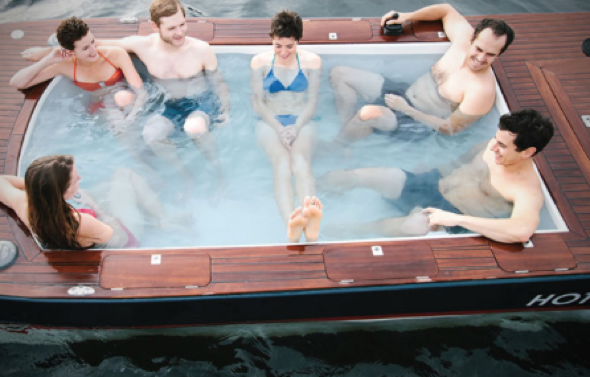 6-person hot tub boat