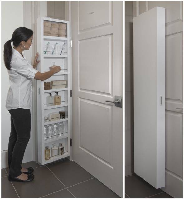 The Cabidor Uses The Extra Space Behind Any Standard Door