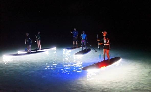 LED Lighting On Stand-up Paddleboard