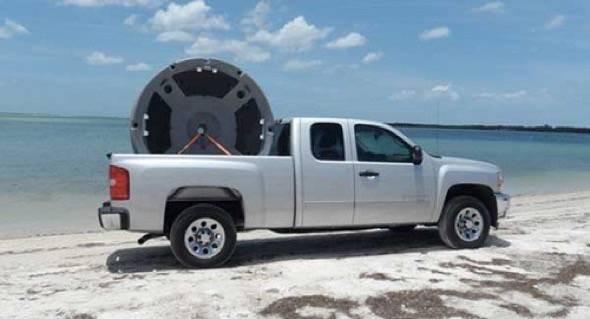 Ultraskiff 360 Boat In Truck