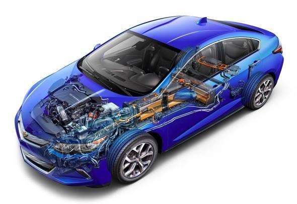 2016 Chevy Volt Cutaway Picture