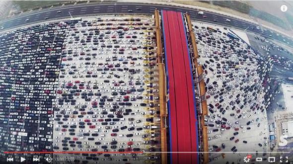 Worst Traffic Jam Video Beijing China