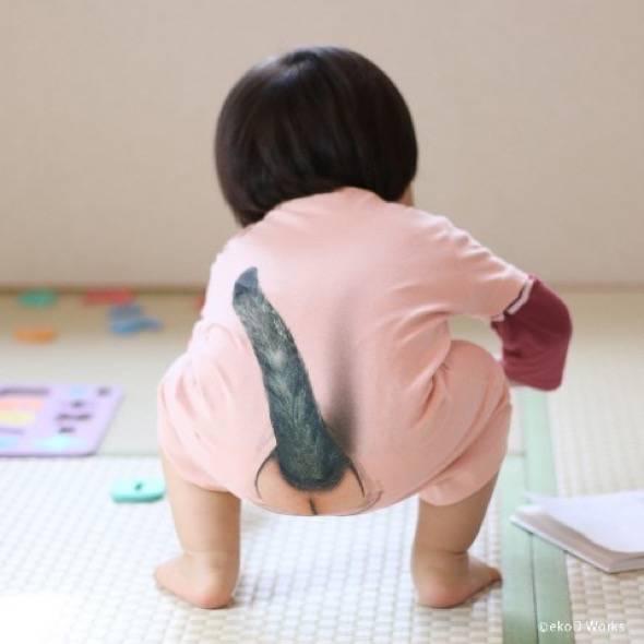 Cat Tail Baby Onsie