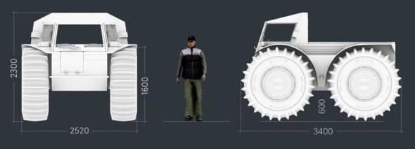 SHERP ATV Dimensions