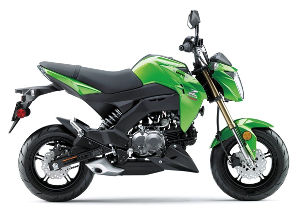 Kawasaki Z125 Green Right Side
