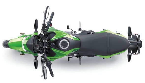 Kawasaki Z125 Pro Green Top View
