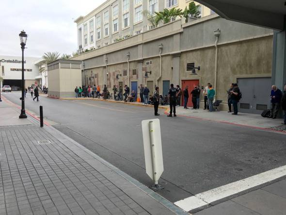 Tesla Motors Model 3 Preorder Line San Jose