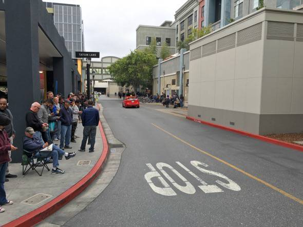 Tesla Motors Model 3 Preorder Line