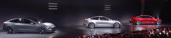 Tesla Model 3 Lineup