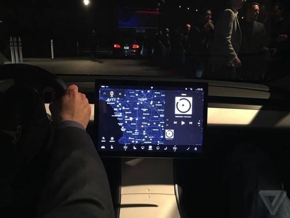 Tesla Model 3 Touchscreen