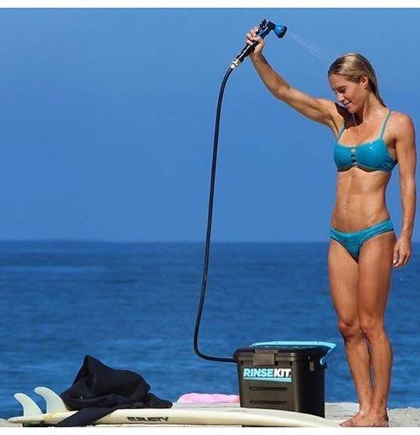 RinseKit Pressurized Portable Shower Sprayer Beach Shower