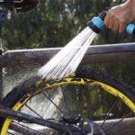 RinseKit Pressurized Portable Shower Sprayer Bike Wash