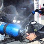 RinseKit Pressurized Portable Shower Sprayer Scuba shower