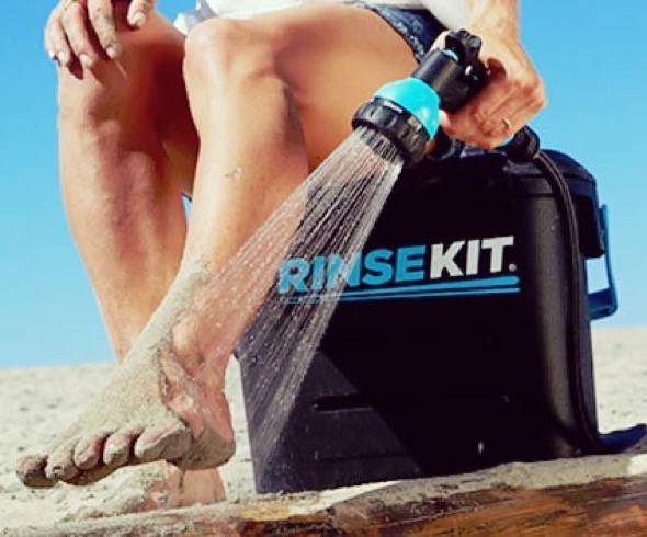 RinseKit Pressurized Portable Shower Sprayer