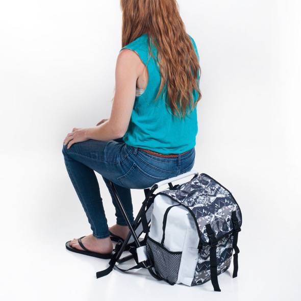 Stalwart Folding Stool and Backpack Combo