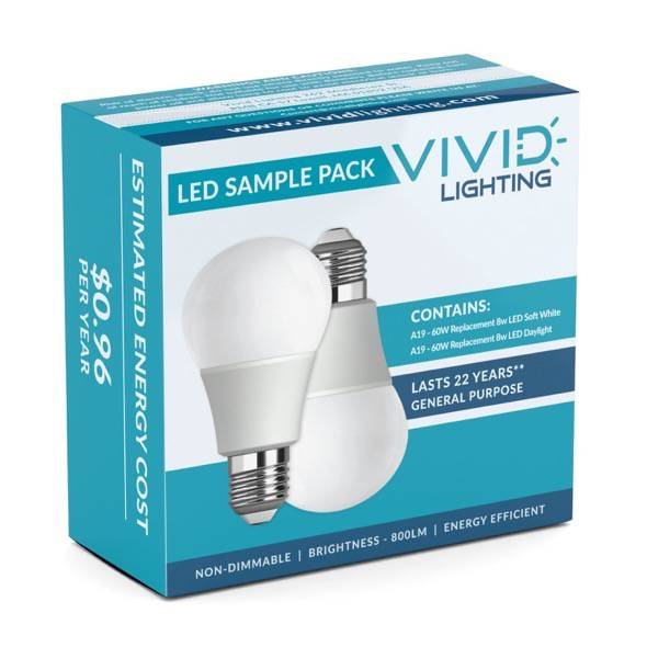 Vivid Lighting LED Sample Pack Packaging Front
