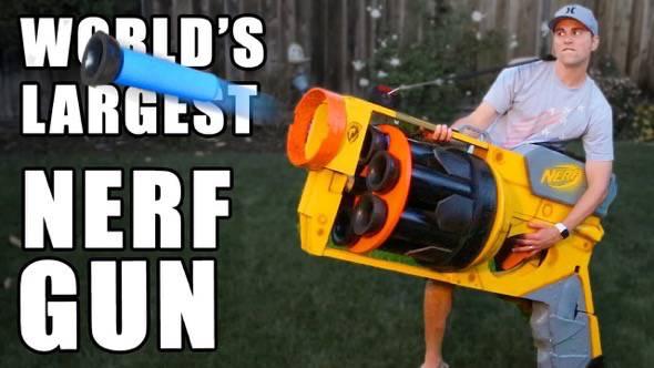 Worlds Largest Nerf Gun